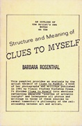 Structure and Meaning of <i>Clues to Myself</i>