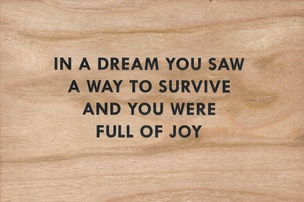 In a Dream You Saw a Way to Survive and You Were Full of Joy Wooden Postcard