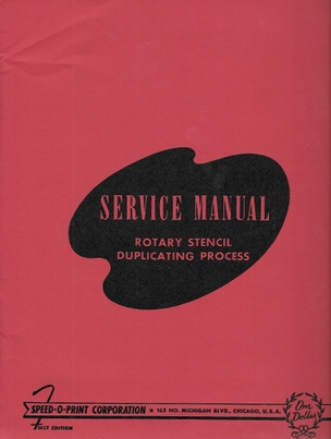 Service Manual: Rotary Stencil Duplicating Process