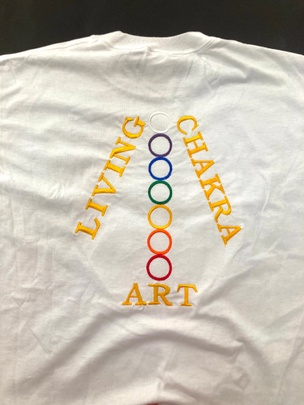 Living Art Chakra T-Shirt [White, Medium]