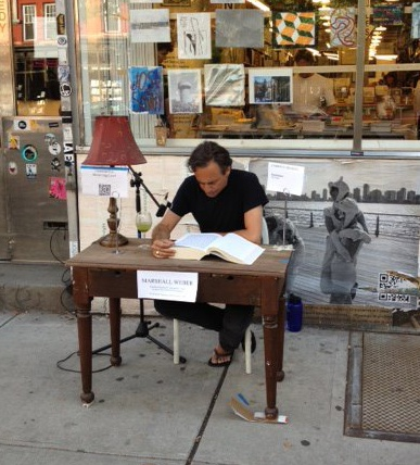 Marshall Weber performs 48 Hour Reading of Appropriative Texts