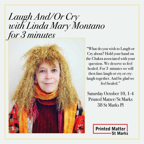 Laugh And Or Cry with Linda Mary Montano for 3 Minutes