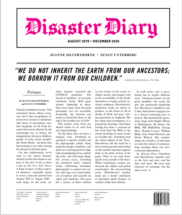 Disaster Diary: August 2019 - December 2020