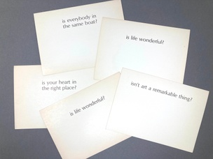 Ample Food for Stupid Thought: Is / Isn't?  (Set of 5 Cards)