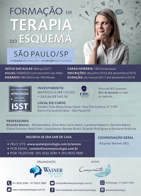 Curso de Formação em Terapia do Esquema - 2ª edição São Paulo