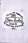 Tom Sachs Seal Of Approval 2003 Printed Matter Catalog