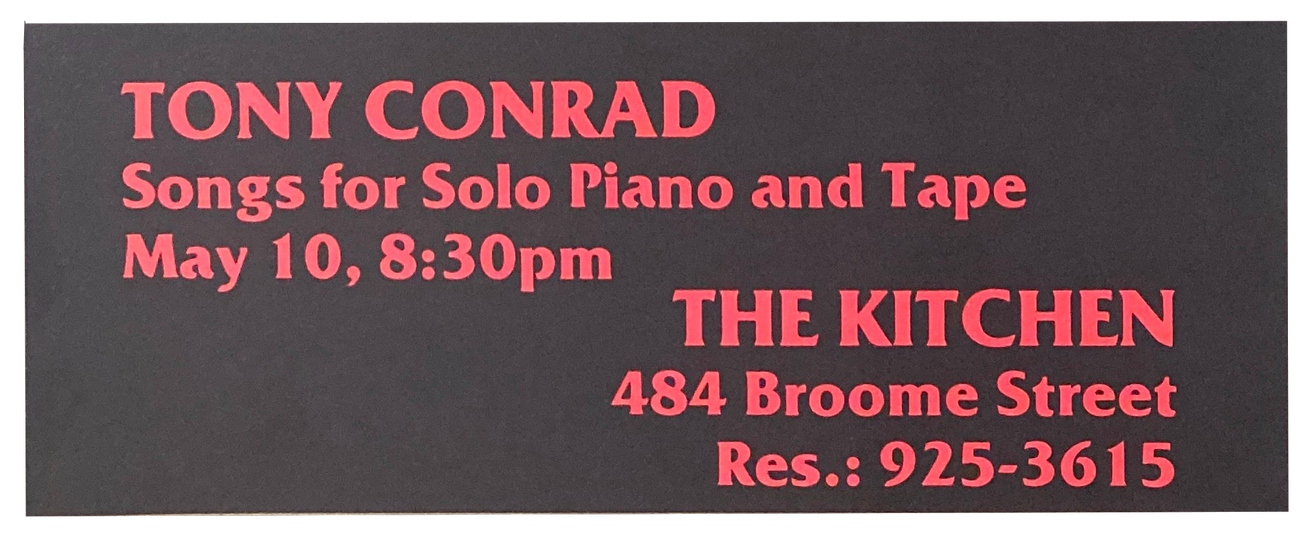 Songs for Solo Piano and Tape, May 10, 1980 [The Kitchen Posters]