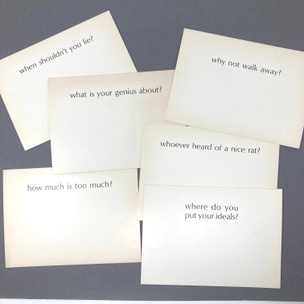 Ample Food for Stupid Thought: Who, What, When, Where, Why, How? (Set of 6 Random Cards)