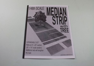 1/48 Scale Median Strip with Tree
