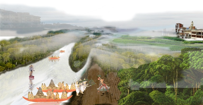 3_Perspective View of the Varuna River Becoming a Forest Finger Extending Towards the Horizon.jpg