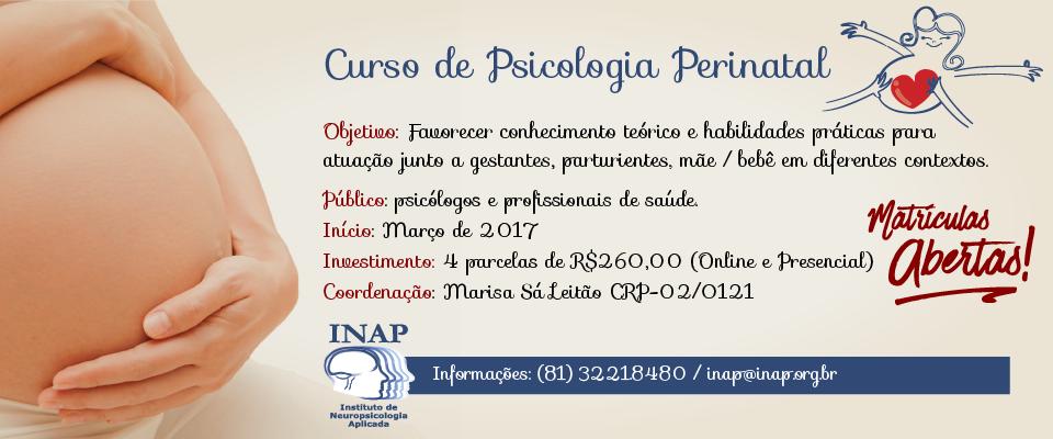 Curso de Pscicologia Perinatal