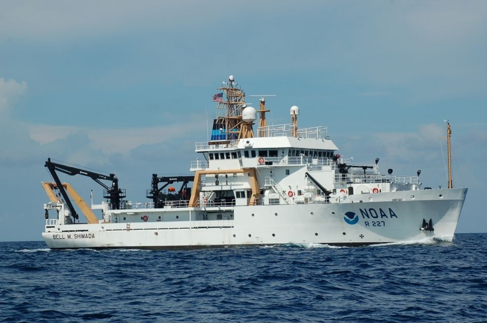 Students Board NOAA's Bell M. Shimada for Research Cruise