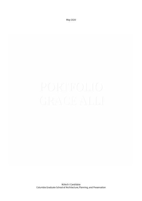 ARCH AlliGrace SP20 Portfolio.pdf_P1_cover.jpg