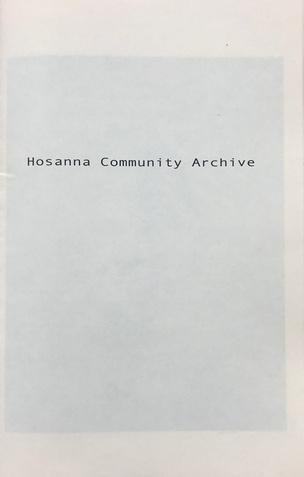 HOSANNA COMMUNITY ARCHIVE