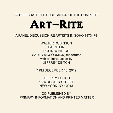 ART-RITE launch event