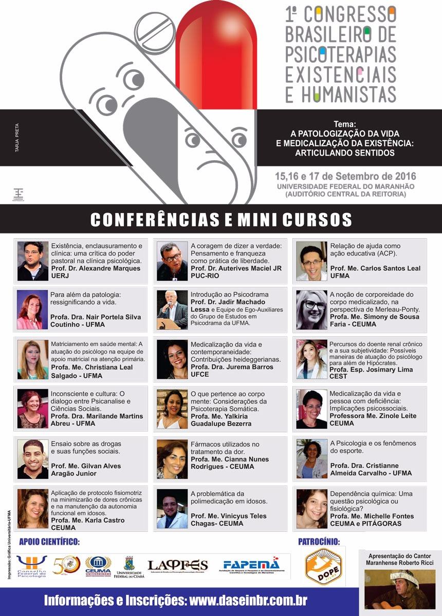 I Congresso de psicoterapias existenciais e humanistas.