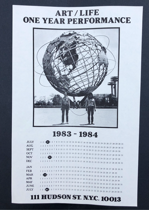 Art/Life One Year Performance Poster [Globe, unstamped]