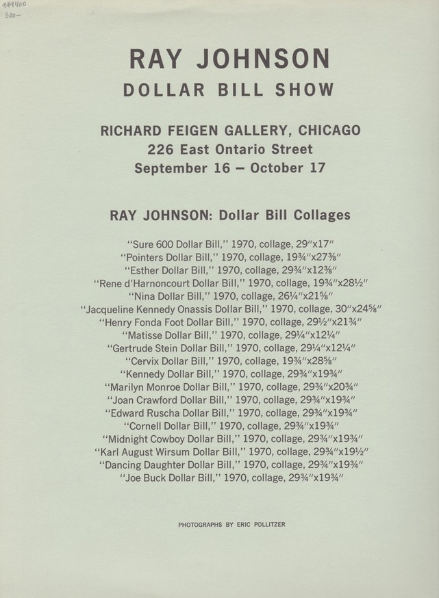 Ray Johnson : Dollar Bill Show thumbnail 2