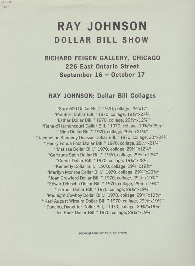 Ray Johnson : Dollar Bill Show thumbnail 2