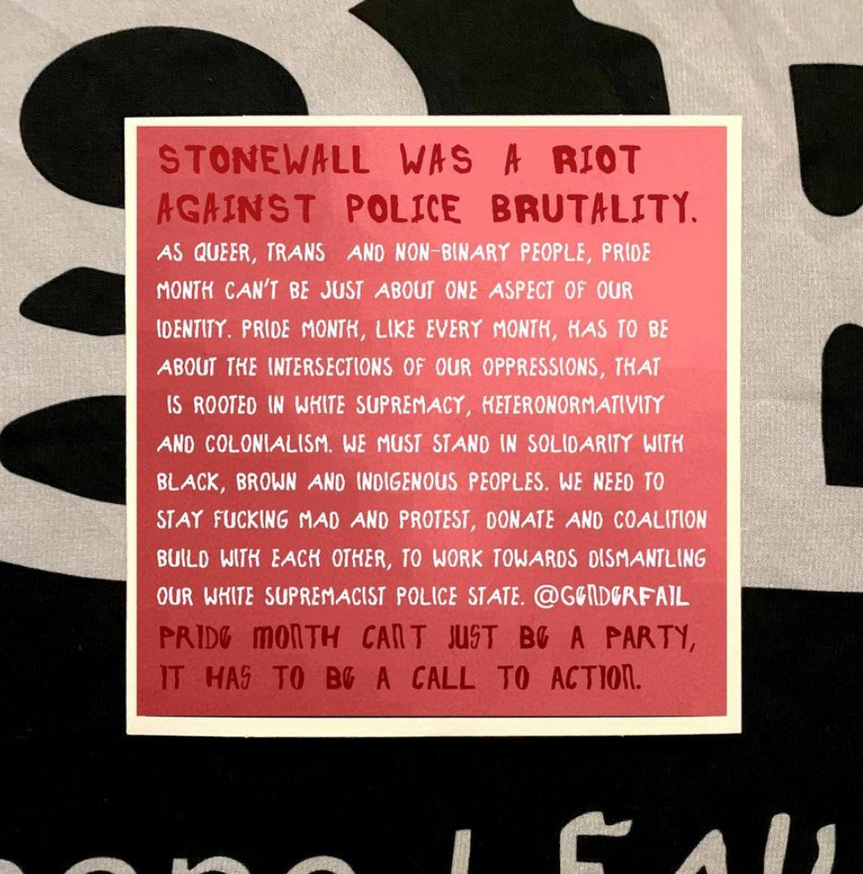Stonewall was a Riot on Police Brutality T-Shirt [Medium] thumbnail 2