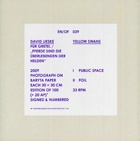 EN/OF 039 : David Lieske / Yellow Swans