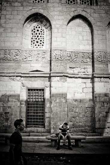 Fig 5: Epigraphy near the Qalawun complex, Cairo, 2009. Photograph by Christopher Rose.