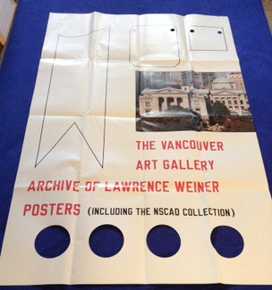 Archive of Lawrence Weiner Posters [Folded Poster]