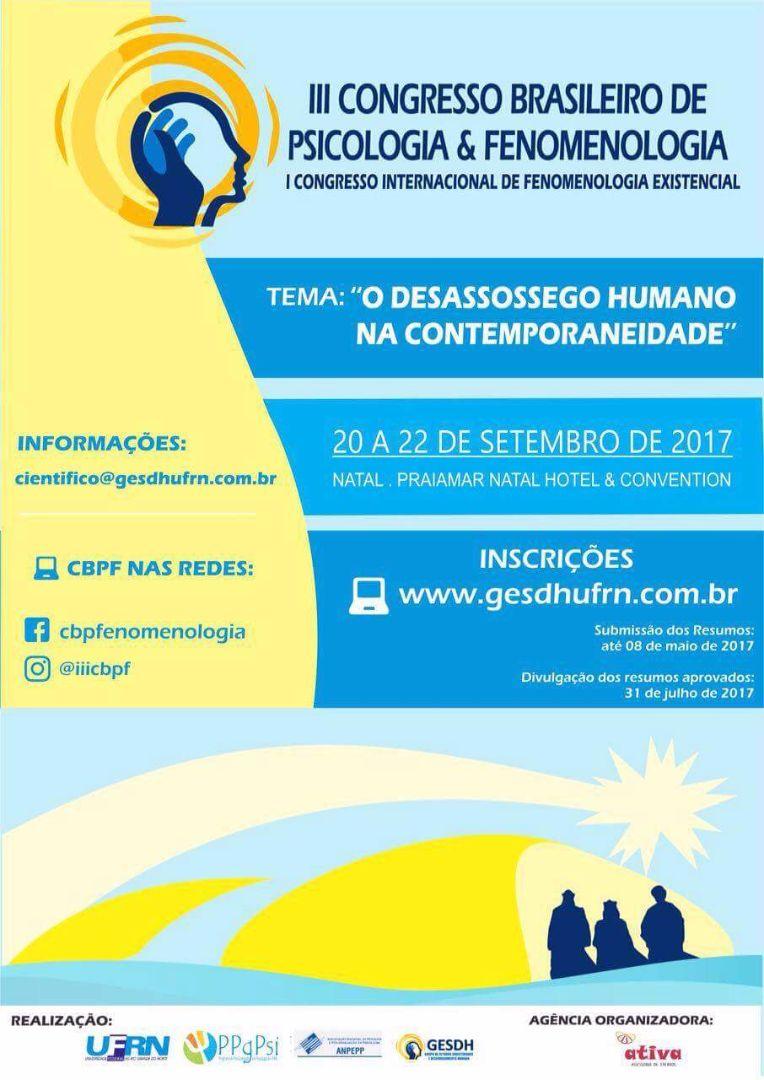 Congresso Brasileiro de Psicologia e Fenomenologia