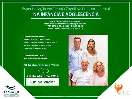 ESPECIALIZAÇÃO EM TCC NA INFÂNCIA E ADOLESCÊNCIA