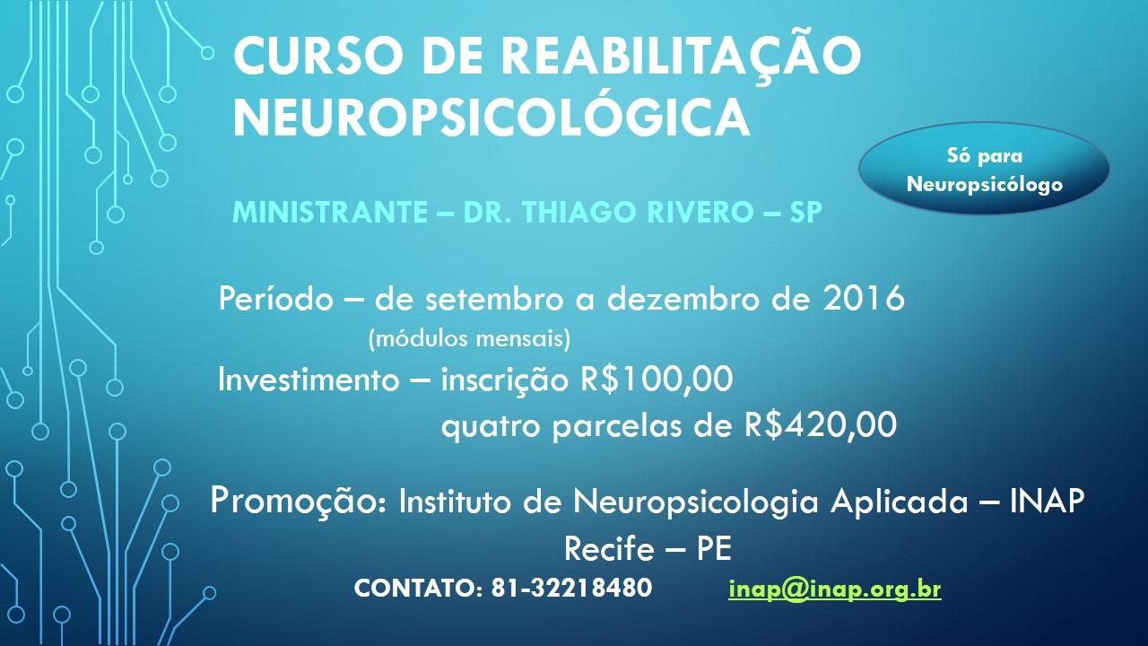 Curso de Reabilitação Neuropsicológica