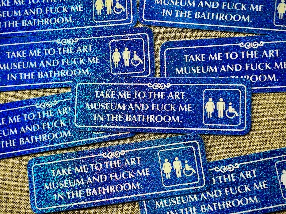 Take Me To The Art Museum...  Glitter Sticker