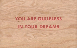 You Are Guileless In Your Dreams Wooden Postcard