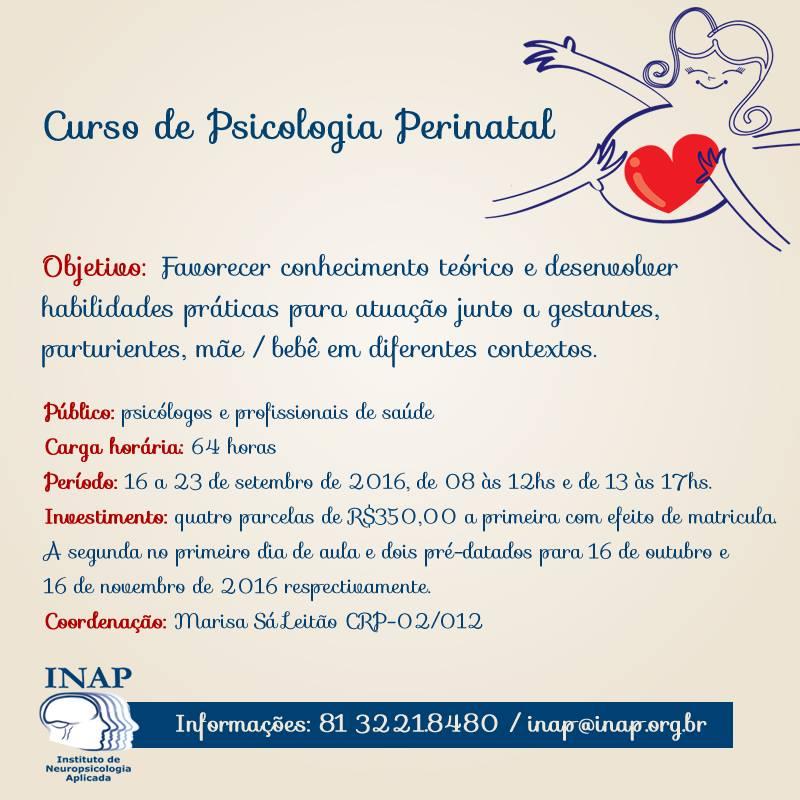 Curso de Psicologia Perinatal