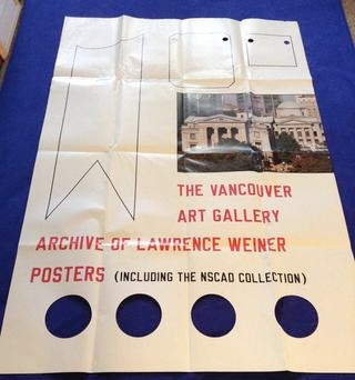 Archive of Lawrence Weiner Posters [Folded Poster] thumbnail 1
