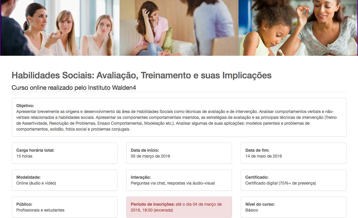 Habilidades Sociais: Avaliação, Treinamento e suas Implicações