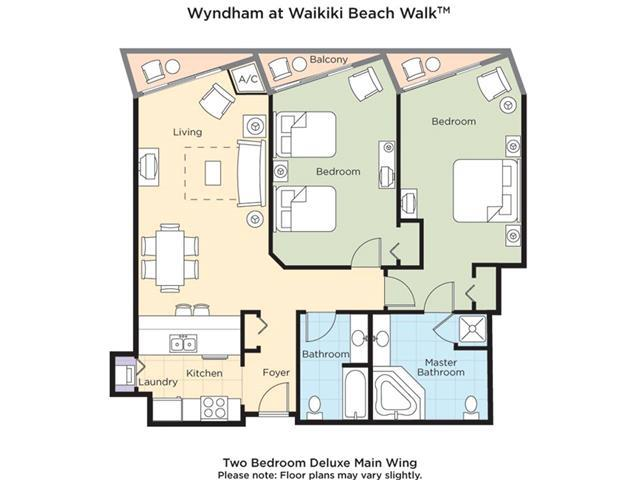 Apartment Wyndham Wakiki Beach Walk 2 Bedrooms 2 Bath photo 20366165