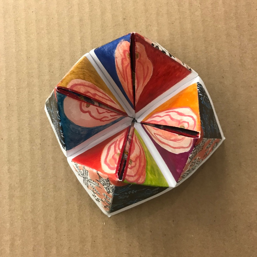 Cootie Catcher Christmas Card thumbnail 2