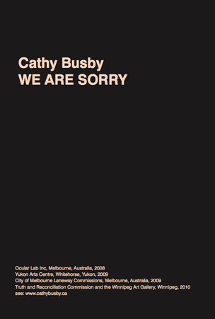 We are Sorry