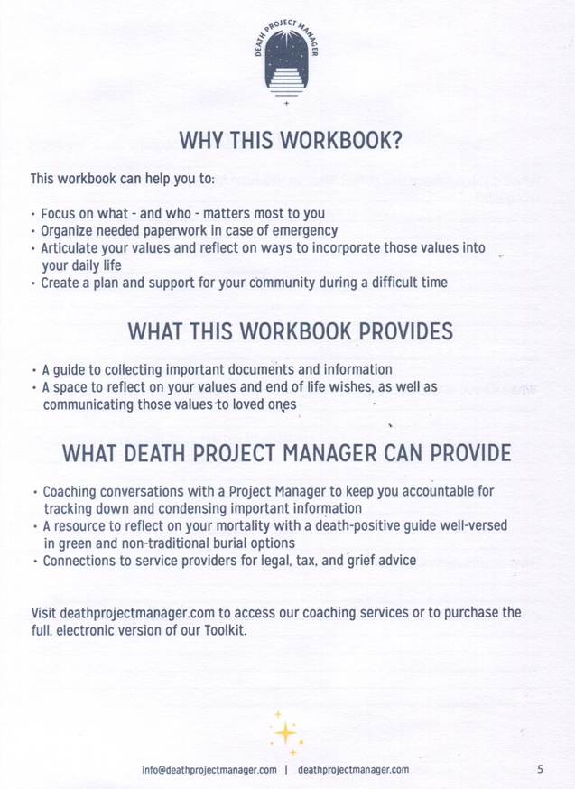 The Death Project Manager Mortality Workbook thumbnail 2