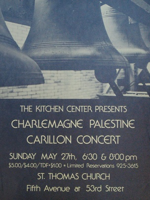 Carillon Concert, May 27, 1979 [The Kitchen Posters]