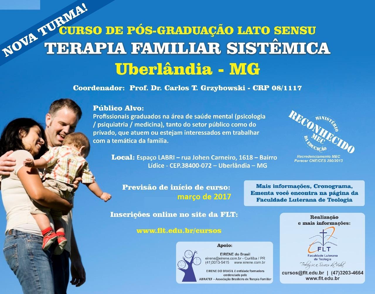 Curso de Pós-graduação em Terapia Familiar Sistêmica