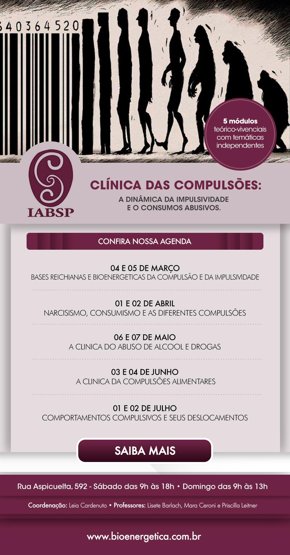 Clínica das Compulsões: a dinâmica da impulsividade e o consumos abusivos
