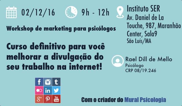 Workshop - Marketing digital para psicólogos: como revolucionar o seu posicionamento na internet