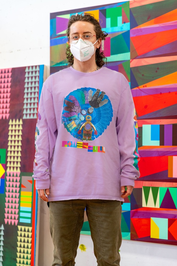 POWER FULL, Purple Size L [Signed]