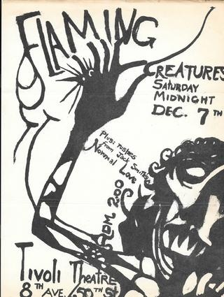 Jack Smith Flaming Creatures Announcement Flyers Printed Matter