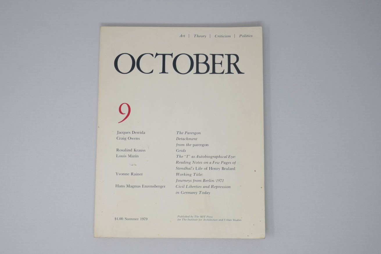 OCTOBER : Art / Theory / Criticism / Politics