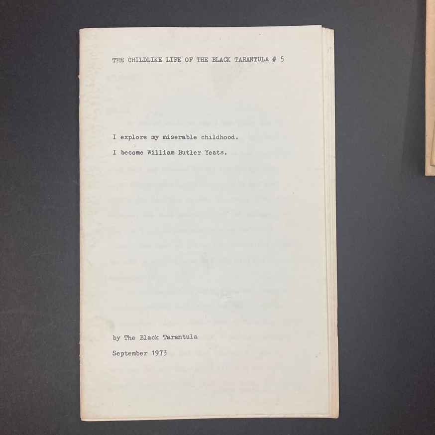 The Childlike Life of the Black Tarantula [Set of 6 Booklets] thumbnail 6