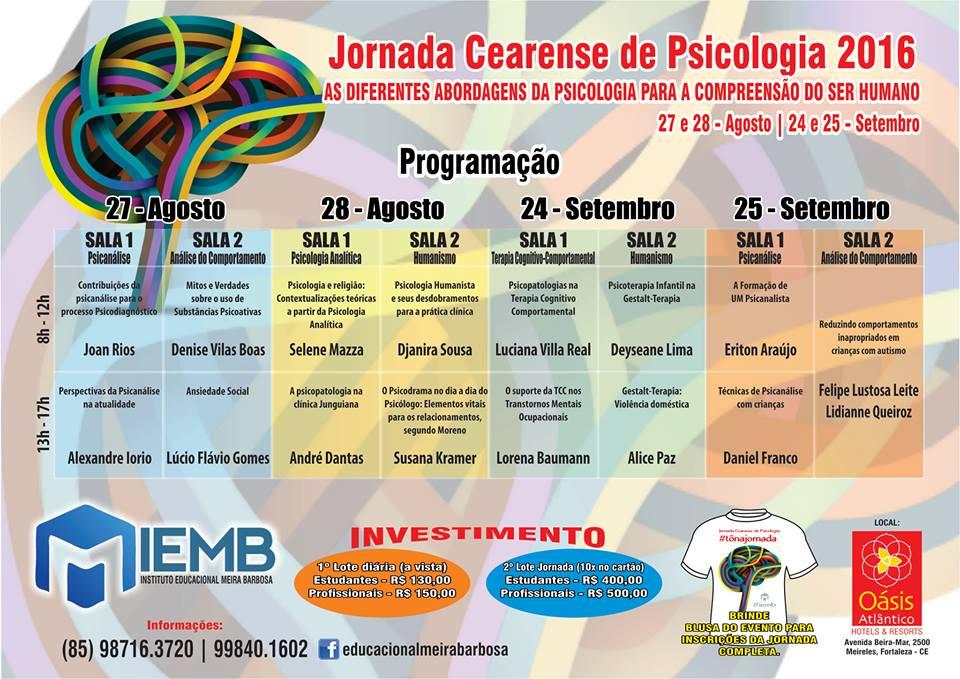 Jornada Cearense de Psicologia 2016