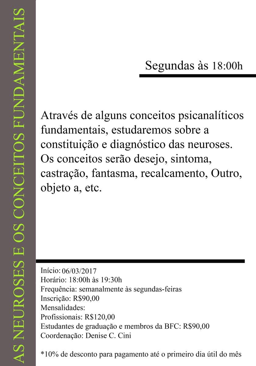 As neuroses e os conceitos fundamentais