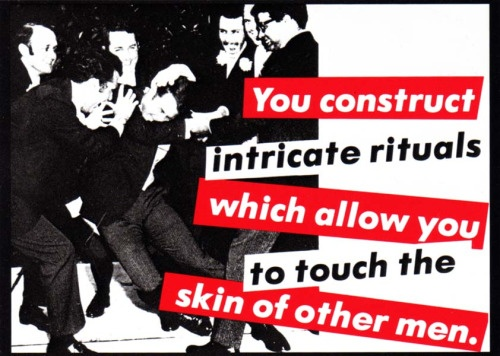 Untitled, 1981 (You Construct Intricate Rituals Which Allow You to Touch the Skin of Other Men) Postcard